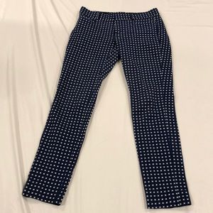 Blue and white banana republic cropped pants
